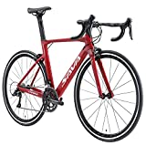 SAVADECK Bicicleta de Carretera de Carbono, Warwinds5.0 700C de Fibra de Carbono con Sistema de Cambio Shimano 105 R7000 22-Velocidad,Neumáticos Continental 26C y Doble Freno en V (Rosa,54cm)