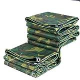ZAQI Lona Lona Impermeable de Camuflaje Resistente - Camuflaje Reversible/Lona Verde - con protección UV para Acampar al Aire Libre RV Camiones y remolques (Size : 1.5m×2.5m)