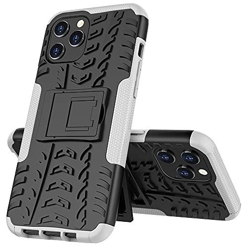 JIAHENG Caja del teléfono Estuche Protector para iPhone 12 Pro MAX, TPU + PC Bumper Híbrido Híbrido Funda Rugida de Grado Militar, Estuche a Prueba de Golpes con Kickstand Cubierta de Cuero