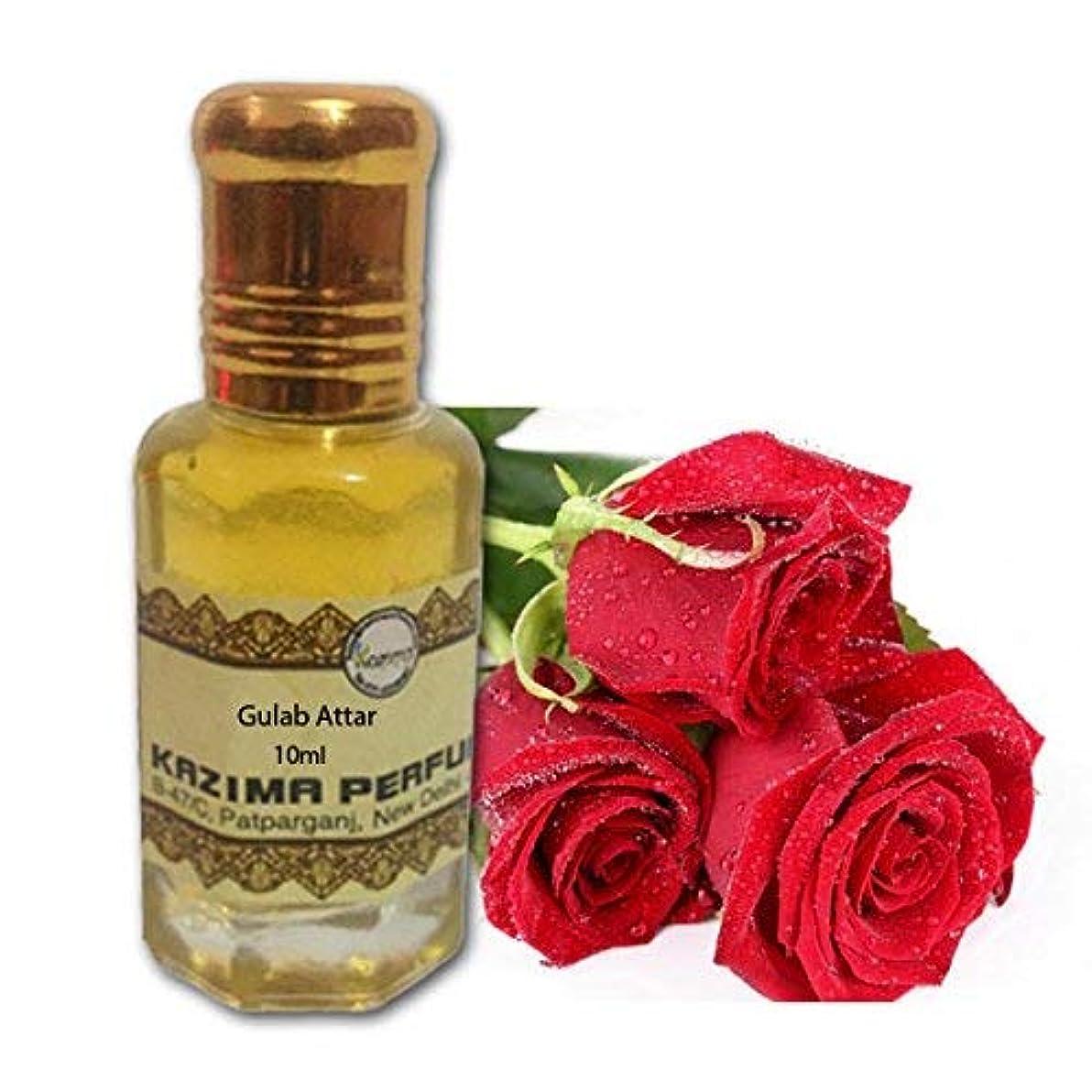 不規則なプレミア補体ユニセックスのためにGULABアター香水 - ピュアナチュラル希釈していない(ノンアルコール)(10ミリリットル)|アターITRA最高品質の香水はアターを持続長いスプレー