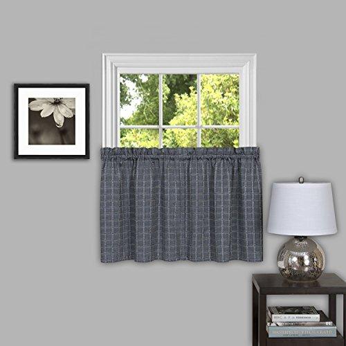 "Achim Home Furnishings, Grey Sydney Window Pair Curtain Tier, 58"" x 36"""