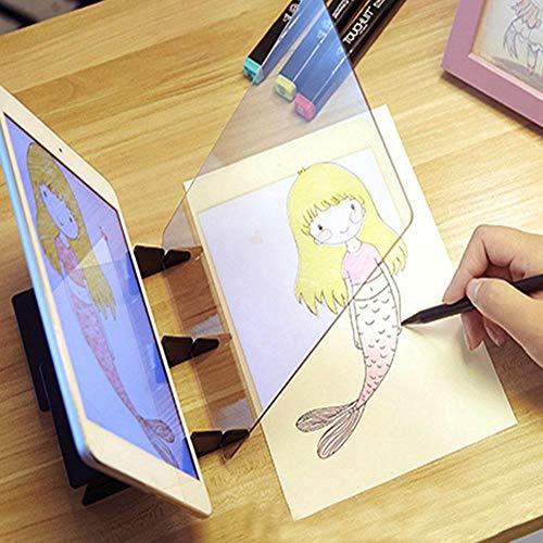 Proyector de dibujo óptico, herramienta de dibujo de dibujo Tablero de dibujo de trazado Herramientas de escritorio de mesa de dibujo...