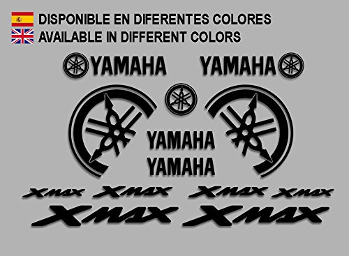 Ecoshirt HQ-X9YJ-K2QW Pegatinas Moto Xmax X MAX F1477 Stickers Aufkleber Decals Autocollants Adesivi, Negro