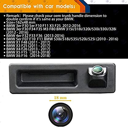 170-HD-Kamera-1280x720p-Wasserdicht-Nachtsicht-Einparkhilfe-Hilfslinien-Heckklappe-Rueckfahrkamera-Distanzlinien-Umschaltbar-fuer-BMW-3er-F30-5er-F10-F11-X3-F25-BMW-320Li530i328i535Li520Li