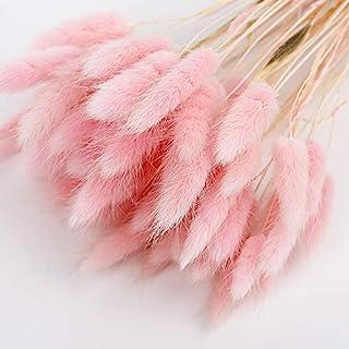 Buhui - Confezione da 50 pezzi di erba per decorazione domestica, erba pampa, fiori secchi, decorazione floreale, mazzo di...