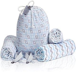 Manta de bebé de algodón, azul, (Calm Blue)