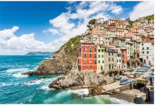ZZXSY Puzzle 1000 Pezzi Vista Panoramica di Riomaggiore Uno dei Cinque Famosi Villaggi di Pescatori delle Cinque Terre in Liguria Italia È Un Ottimo Regalo