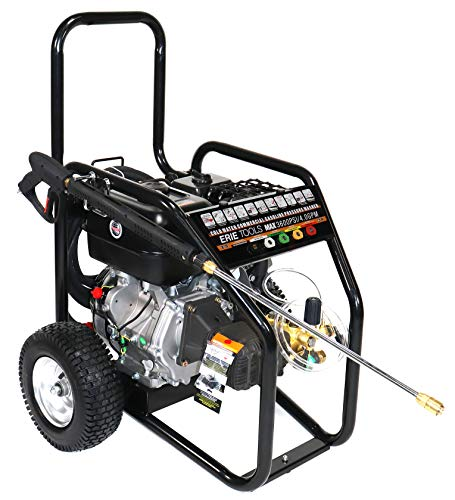 Erie Tools Cold Water High Pressure Power Washer 4.5 GPM 3600 PSI 13 HP Gasoline Engine with Gun Wand Hose and Nozzles