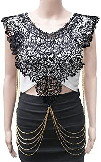Gold-Tone Filigree Pull Over with Draping Body Chain