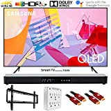 Samsung QN65Q60TA 65' Q60T QLED 4K UHD Smart HDR TV (2020 Model) with Deco Gear Home Theater Soundbar, Wall Mount Accessory Kit and HDMI Cable Bundle