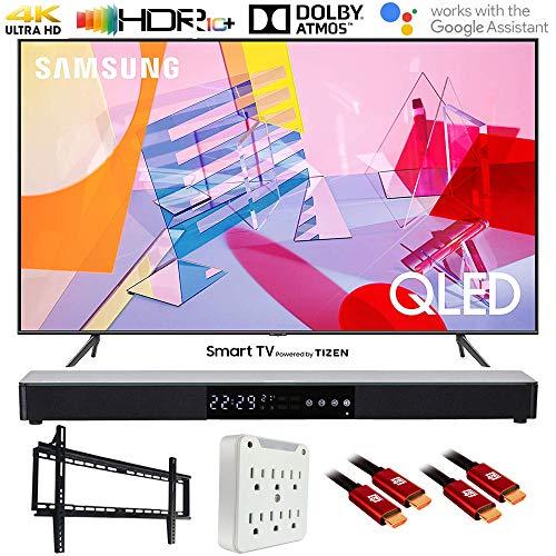 "Samsung QN55Q60TA 55"" Q60T QLED 4K UHD Smart TV (2020) with Deco Gear Soundbar Bundle Montana"