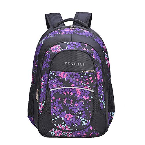 Backpack for Girls Kids by Fenrici 18 inch Durable Book Bags for Kindergarten Elementary Middle School Students Backpack with a Mission HOPE M