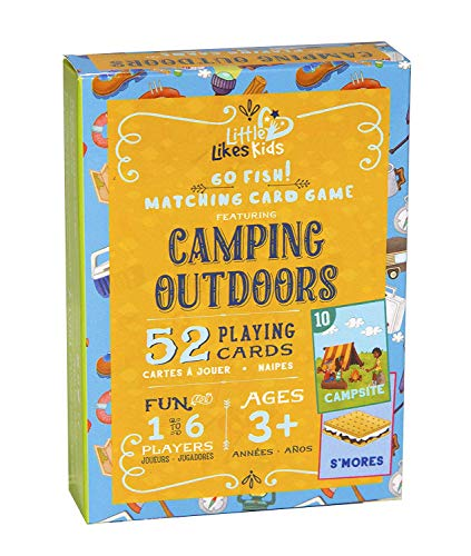 Little Likes Kids - Camping Outdoors Go Fish Card Game - Classic Family Game for Kids Toddlers Preschool - Diverse, Multicultural Matching Pairs Game