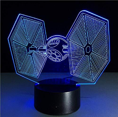 Novedad USB Led 3D Lámparas 3D LED lámpara noche luz creativa regalos para día de San Valentín niños lámpara dormitorio