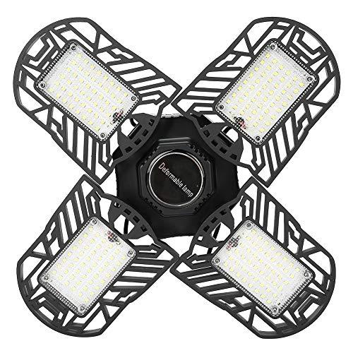 A sixx Deformable Lamp, Four Leaf Garage Lights, Garage Lights, for Workshop, Barn Garage