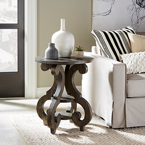 Magnussen Bellamy Round Accent End Table, 26' x 22' x 22'