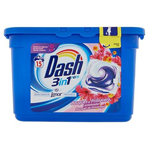 Dash Allin1 Pods Tocco di Lenor, Pods per Bucato, Pulizia a Basse Temperature di 30 °C e Profumo Duraturo, 2 x 15 Pezzi, 30 Lavaggi