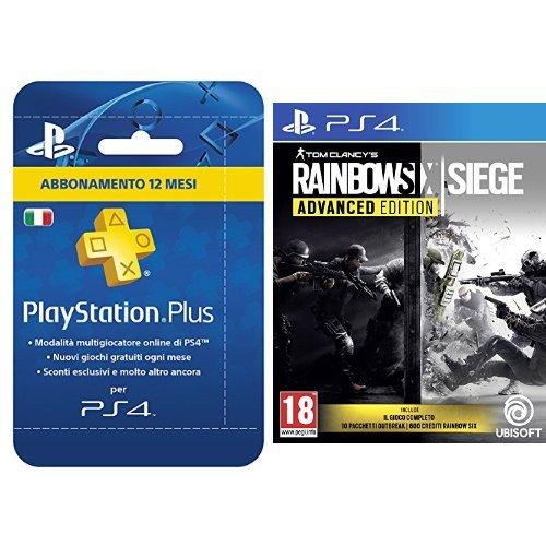 Bundle: Rainbow Six Siege Advanced + PlayStation Plus Card Hang Abbonamento 12 Mesi