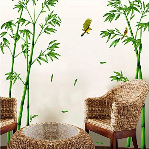 Grüner Bambus-Wald-Wandaufkleber kreative chinesische Baum-DIY-Baum-Hauptdekor-Abziehbilder für Wohnzimmer-Dekoration