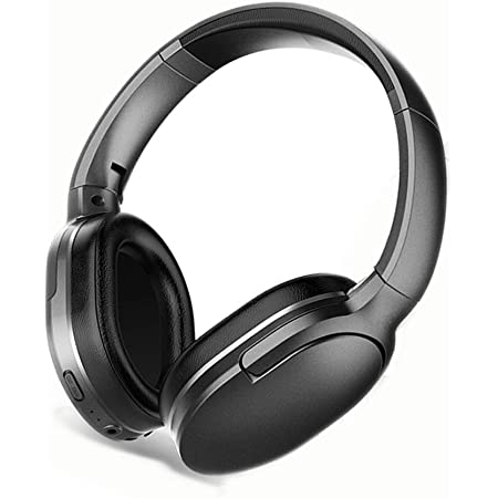 Wireless Headphones D01, Foldable, Bluetooth 5.0, Comfortable Ear-Pads, 30 Hours of Playtime Compatible with 3.5mm Plug (Black)