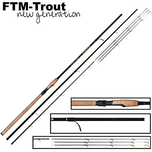 FTM Steel Trout 2 3,30m 6-25g - Forellenrute zum Angeln auf Forelle, Forellenruten zum Forellenangeln, Angelrute für Forellen