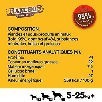 PEDIGREE Ranchos - Récompenses riches en Boeuf pour Chien, 7 sachets de 70 g de friandises