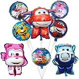 Super Alas Decoraciones de Cumpleaños Super Wings Ballons Super Wings Telón de fondo Fotografía Booth Super Wings Party Supplies (CD-XW-024, 8pcs alas)