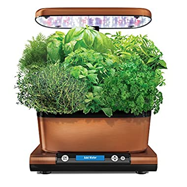 AeroGarden Harvest Elite with Gourmet Herb Seed Kit Hydroponic Garden, Copper Stainless