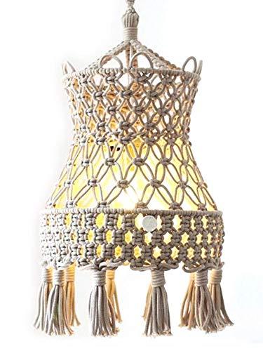 Pantalla marroquí tejida a mano Dormitorio marroquí decorado con tapicería tejida de estilo étnico Decoración de lámpara colgante Decoración de tiro étnico de tiro de viento