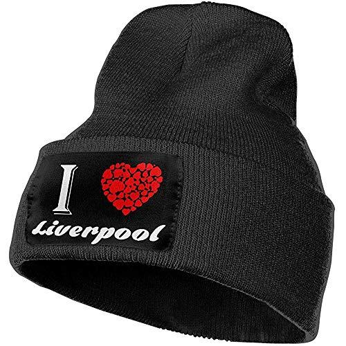 H.D. Gorro Beanies-Unisex I Love Liverpool Gorro Beanies De Punto Elástico Al Aire Libre Soft Winter Skull Caps