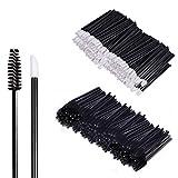 200 Stück Make-up Tool-Kits Einweg Lippenpinsel Stick Schwarz Einweg WimpernbürsteTägliche