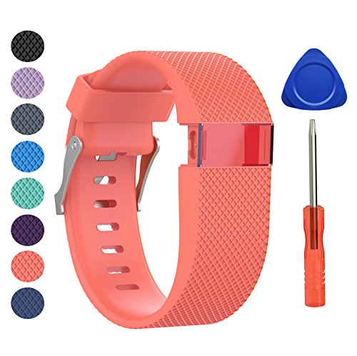BeneStellar Newest Fitbit Charge HR Band, Silicone Replacement Small Large Band Bracelet Strap for Fitbit Charge HR Wireless Activity Wristband (Large(6.2