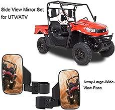 Motobiker Adjustable 1Pair UTV Side Mirror 1.75 or 2inch Roll Bar Cage, Universal UTV Side View Mirrors for Polaris Ranger RZR, Can Am Commander, Maverick X3, Gator, Teryx, Rhino YXZ1 and More