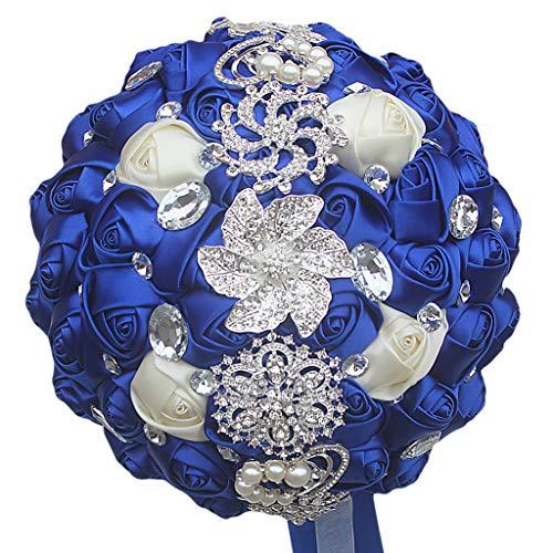 JERKKY Hochzeitsstrauß 1 Bündel Strass Perlen Band Dekoration Hochzeit Liefert Perlen Verziert Halten Hochzeitsblume