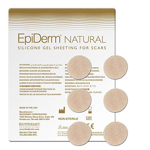 BIODERMIS Epiderm Natual Narbenpflaster aus hautfarbenem Silikon 1x6St, rund 1,9cm Selbstklebend am gesamten Körper, Zur Narbenpflege nach der OP und um alte Narben zu entfernen …