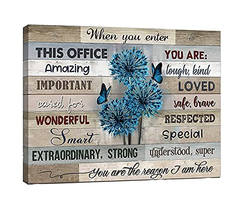Flower Tree Inspirational Wall Art For Office Motivational Wall Art For Office In This Office Wall Decor Framed Ready To Hang 16x20 Inch