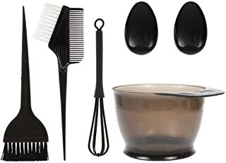 Anself 5PCS Hair Dye Color Brush and Bowl Set Ear Caps Dye Mixer Hair Tint Dying Coloring Applicator