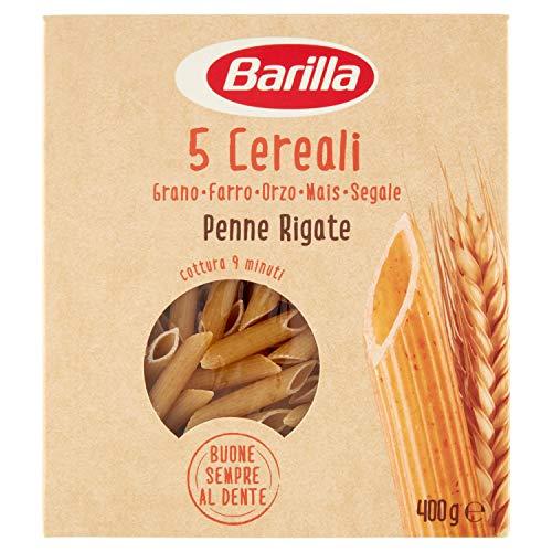 5 X Barilla 5 Cereali Penne italien Pâtes avec 5 Céréales 400 g