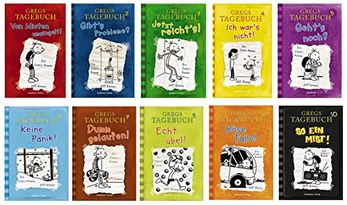 Gregs Tagebuch 10 So ein Mist + Bd. 1-9 Von Idioten umzingelt! Gibt's Probleme? Jetzt reicht's! Ich war's nicht! Geht's noch? Keine Panik! Dumm gelaufen! Echt übel! Böse Falle! gebundene Ausgaben