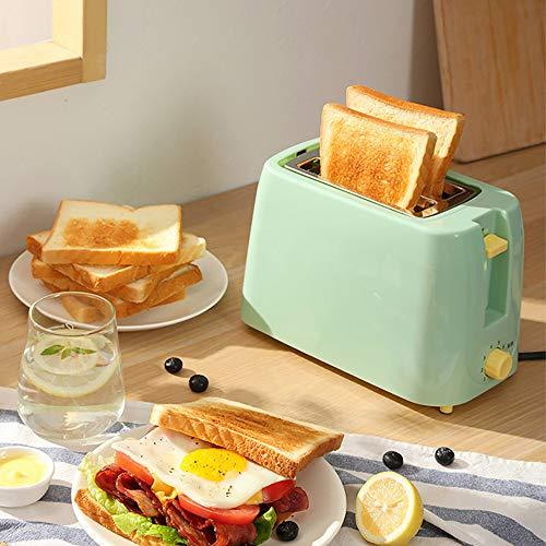 Broodrooster Met 2 Sneden - Broodrooster Met Bruiningsregeling Op 8 Niveaus, Uitneembare Kruimellade, Opwarmfuncties, Verbreden En Verlengen Van Broodtrog, Groen