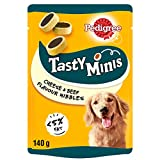 Pedigree Tasty Minis - Dog treats, Cheesy Nibbles with Cheese and Beef, Pack of 8 x 140 g