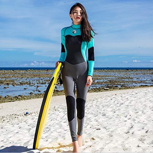 Mountain Warehouse - Traje de neopreno para mujer, cuello ajustable, mantiene el calor corporal de una pieza, con cremallera fácil deslizamiento, para surf, protección UV, L