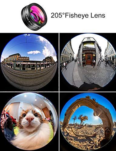 MACTREM Phone Camera Lens Phone Lens Kit 9 in 1, 20X Telephoto Lens, 205° Fisheye...