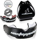 Unstoppable Profi Mundschutz [2020] - Zahnschutz inkl. Box/Perfekter Halt & BPA Frei - Boxen, Rugby, Football, Kampfsport, MMA + E-Book