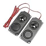 Oumij1 Altoparlante Magnetico 8Ω 5W cavità Audio Portatile per Bassi Pesanti da 40 mm Doppio Altoparlante Magnetico per Monitor TV