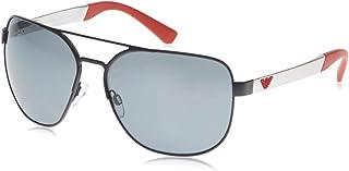 نظارة شمسية للرجال من امبوريو ارماني، اسود مطفي/ رمادي بولار (0EA2064 322381 62 322381)