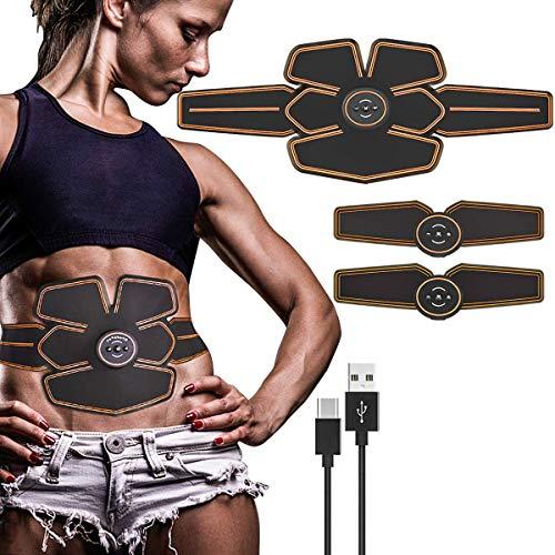 ABS Stimolatore, EMS Addominali Elettrostimolatore, EMS Stimolatore Muscolare, Elettrostimolatore Per Addominali, ABS Allenatore, EMS Elettrostimolatore Muscolare, Cintura Di Tonificazione Addominale
