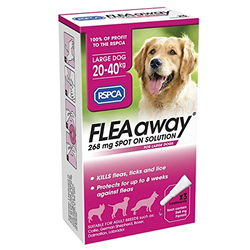 RSPCA FleaAway Spot-on Solución para Perros Grandes, 268 MG