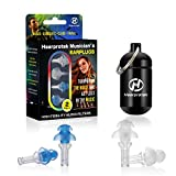 Hearprotek High Fidelity Concert Ear Plugs, 2 Pairs Hearing Protection Noise Reduction Earplugs-23db for Music, Festivals, DJs, Musicians & Nightclub (Blue)