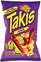 Takis Fuego Spicy Chili Pepper and Lime Rolled Tortilla Chips Loaded with Fiery Tangy Flavour, Crunchy Corn Snack, 280 grams